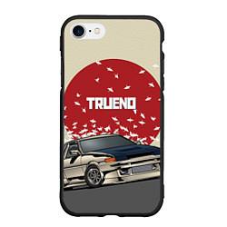 Чехол iPhone 7/8 матовый Toyota Trueno ae86 цвета 3D-черный — фото 1
