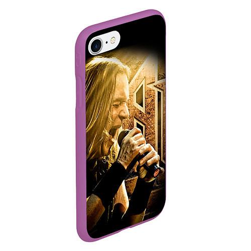 Чехол iPhone 7/8 матовый Кипелов: Ария / 3D-Фиолетовый – фото 2