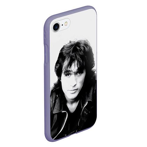 Чехол iPhone 7/8 матовый Кино: Виктор Цой / 3D-Серый – фото 2