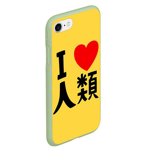 Чехол iPhone 7/8 матовый No game no life Sora / 3D-Салатовый – фото 2