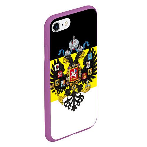 Чехол iPhone 7/8 матовый Имперский Флаг / 3D-Фиолетовый – фото 2