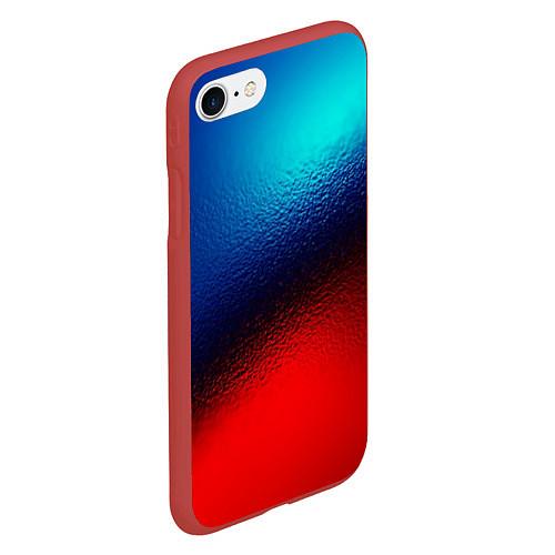 Чехол iPhone 7/8 матовый Синий и красный / 3D-Красный – фото 2