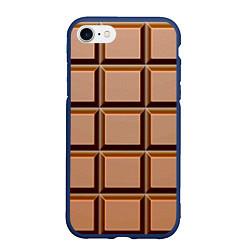 Чехол iPhone 7/8 матовый Шоколад цвета 3D-тёмно-синий — фото 1