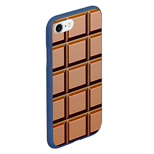 Чехол iPhone 7/8 матовый Шоколад / 3D-Тёмно-синий – фото 2