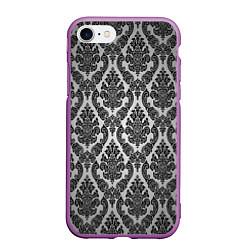 Чехол iPhone 7/8 матовый Гламурный узор цвета 3D-фиолетовый — фото 1