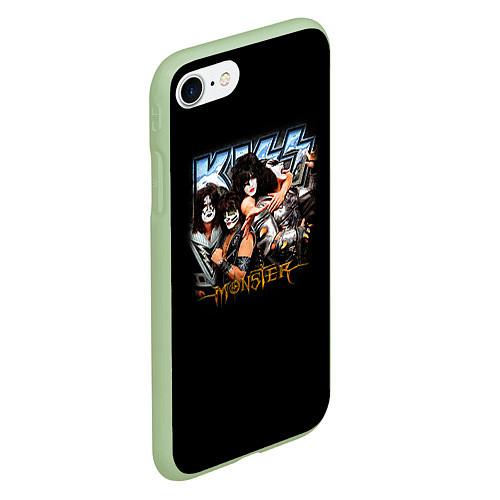 Чехол iPhone 7/8 матовый Kiss Monster / 3D-Салатовый – фото 2