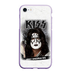 Чехол iPhone 7/8 матовый KISS: Adult spaceman wig цвета 3D-светло-сиреневый — фото 1
