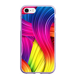 Чехол iPhone 7/8 матовый Абстракция цвета цвета 3D-светло-сиреневый — фото 1
