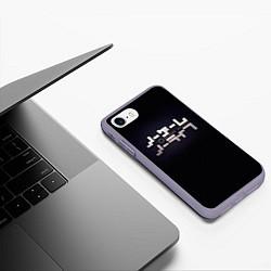 Чехол iPhone 7/8 матовый No Game No Life лого цвета 3D-серый — фото 2