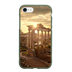 Чехол iPhone 7/8 матовый Римское солнце цвета 3D-темно-зеленый — фото 1