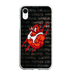 Чехол iPhone XR матовый Кабан-качок цвета 3D-белый — фото 1