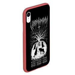 Чехол iPhone XR матовый Wolves in the Throne Room цвета 3D-красный — фото 2