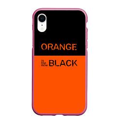 Чехол iPhone XR матовый Orange Is the New Black цвета 3D-малиновый — фото 1