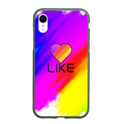 Чехол iPhone XR матовый LIKE цвета 3D-темно-зеленый — фото 1