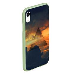 Чехол iPhone XR матовый 30 seconds to mars цвета 3D-салатовый — фото 2
