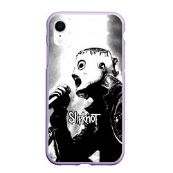 Чехол iPhone XR матовый Slipknot цвета 3D-светло-сиреневый — фото 1