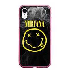 Чехол iPhone XR матовый Nirvana Smoke цвета 3D-малиновый — фото 1