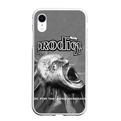 Чехол iPhone XR матовый The Prodigy: Madness цвета 3D-белый — фото 1
