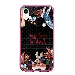 Чехол iPhone XR матовый Pink Floyd: The Wall цвета 3D-малиновый — фото 1