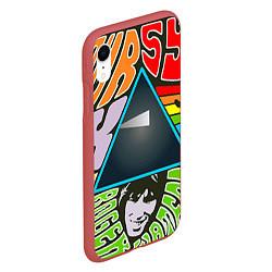 Чехол iPhone XR матовый Pink Floyd цвета 3D-красный — фото 2