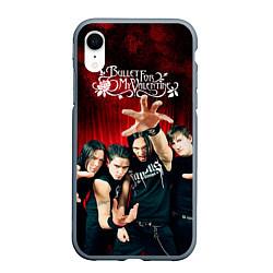 Чехол iPhone XR матовый Bullet for my valentine цвета 3D-серый — фото 1