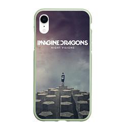 Чехол для iPhone XR матовый с принтом Imagine Dragons: Night Visions, цвет: 3D-салатовый, артикул: 10064384305903 — фото 1