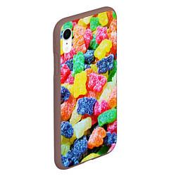 Чехол iPhone XR матовый Мармеладные мишки цвета 3D-коричневый — фото 2