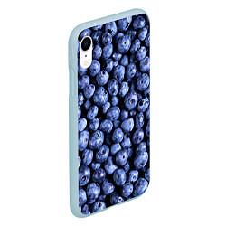 Чехол iPhone XR матовый Черника цвета 3D-голубой — фото 2