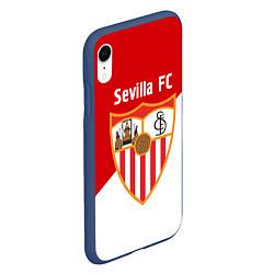 Чехол iPhone XR матовый Sevilla FC цвета 3D-тёмно-синий — фото 2