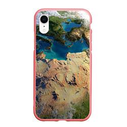 Чехол iPhone XR матовый Земля цвета 3D-баблгам — фото 1