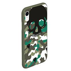 Чехол iPhone XR матовый Камуфляж цвета 3D-темно-зеленый — фото 2