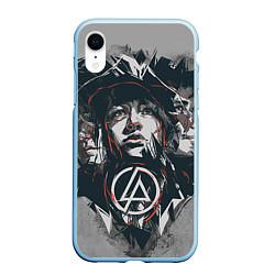 Чехол iPhone XR матовый Linkin Park: My Style цвета 3D-голубой — фото 1