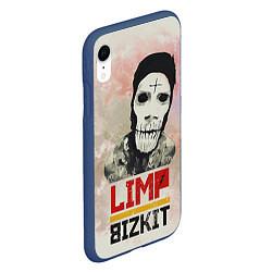 Чехол iPhone XR матовый Limp Bizkit цвета 3D-тёмно-синий — фото 2