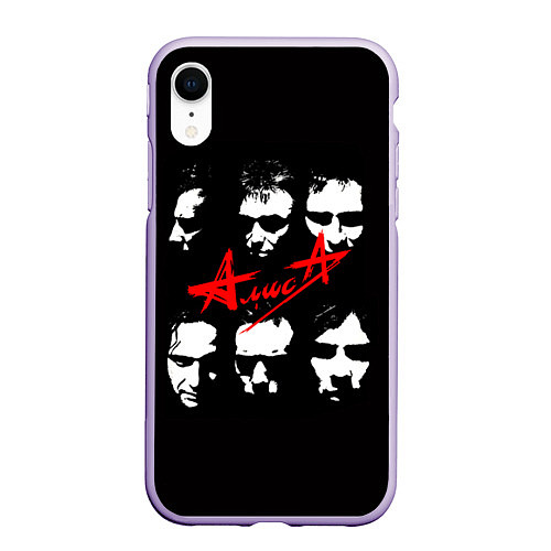 Чехол iPhone XR матовый Группа АлисА / 3D-Светло-сиреневый – фото 1