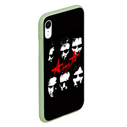 Чехол iPhone XR матовый Группа АлисА цвета 3D-салатовый — фото 2