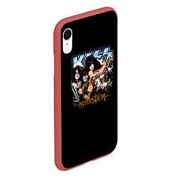 Чехол iPhone XR матовый Kiss Monster цвета 3D-красный — фото 2