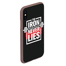 Чехол iPhone XS Max матовый The iron never lies цвета 3D-коричневый — фото 2