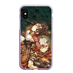 Чехол iPhone XS Max матовый Воин крепости цвета 3D-светло-сиреневый — фото 1
