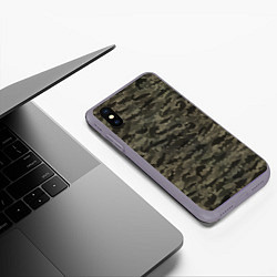 Чехол iPhone XS Max матовый Камуфляж рыбака цвета 3D-серый — фото 2