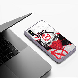 Чехол iPhone XS Max матовый АлисА: Анархия цвета 3D-серый — фото 2