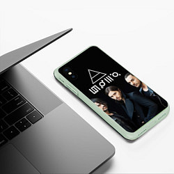 Чехол iPhone XS Max матовый 30 seconds to mars цвета 3D-салатовый — фото 2