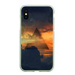 Чехол iPhone XS Max матовый 30 seconds to mars цвета 3D-салатовый — фото 1