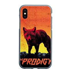 Чехол iPhone XS Max матовый The Prodigy: Red Fox цвета 3D-серый — фото 1