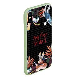 Чехол iPhone XS Max матовый Pink Floyd: The Wall цвета 3D-салатовый — фото 2