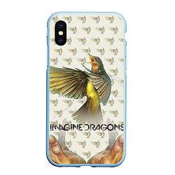 Чехол iPhone XS Max матовый Imagine Dragons: Fly цвета 3D-голубой — фото 1
