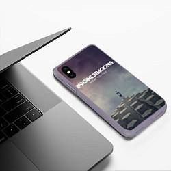 Чехол iPhone XS Max матовый Imagine Dragons: Night Visions цвета 3D-серый — фото 2