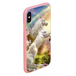Чехол iPhone XS Max матовый Радужный единорог цвета 3D-баблгам — фото 2