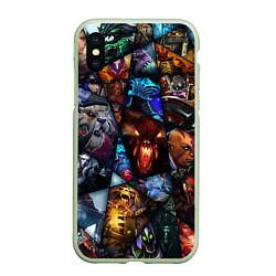 Чехол iPhone XS Max матовый Dota 2: All Pick цвета 3D-салатовый — фото 1