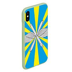 Чехол iPhone XS Max матовый Флаг ВВС цвета 3D-салатовый — фото 2