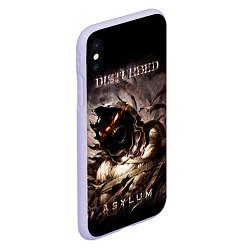 Чехол iPhone XS Max матовый Disturbed цвета 3D-светло-сиреневый — фото 2